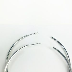 CLOSET REHAB Jewelry - Silver Hoops with Linear Drop
